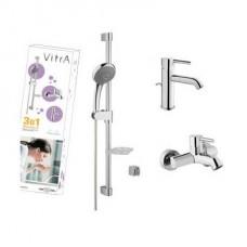 Набор смесителей VitrA Minimax A49153EXP смеситель для раковины, ванны с душевым гарнитуром